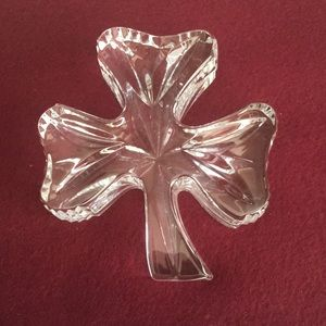 Waterford Crystal Accents - Waterford Crystal shamrock paperweight